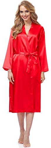 Merry Style Bata Ropa de Casa Lenceria Mujer MSFX798 (Rojo, L)