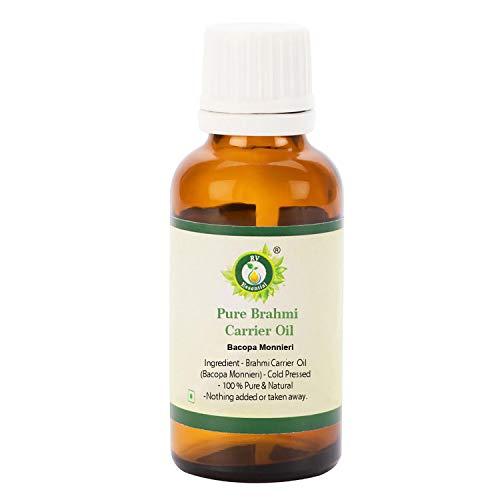 R V Essential Aceite puro de brahmi 50ml (1.69oz)- Bacopa Monnieri (100% puro y natural raras serie hierba) Pure Brahmi Oil