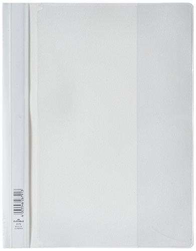 Durable 257902 Angebotshefter Duraplus mit Sichttasche (für A4) 25er Packung weiß