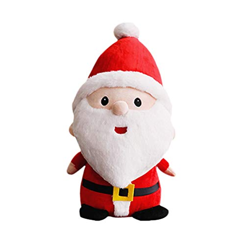 STOBOK Weihnachtsmann Figuren Spielzeug Kinder Plüsch Nikolaus 40cm Plüschtier Stofftier Geschenk
