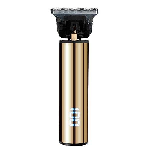 Electric Pro R-Outliner Verzorging | Oplaadbaar snoerloos snijden | T-blade trimmer voor mannen | 0mm Kaal | Tondeuses | Zero Gapped Detail Baardscheerapparaat | Barbershop | Carving,Gold