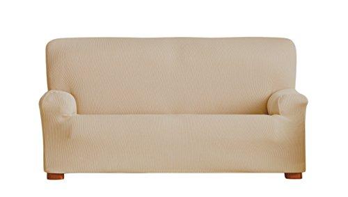 Eysa Ulises - Funda de sofá elástica, 3 plazas, Color Beige