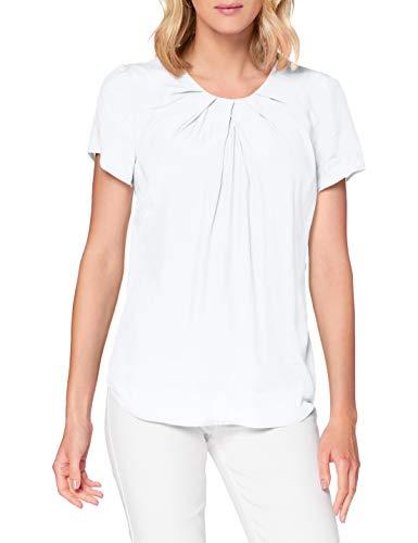 Seidensticker Damen Shirtbluse Kurzarm Uni Bluse, White, 44