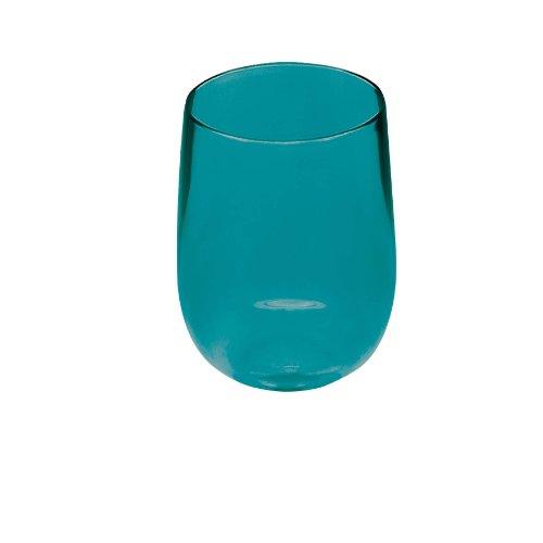 Zak Designs 1783-620 Verre Ballon Haut Empilable Stacky Bleu Aqua 44 cl