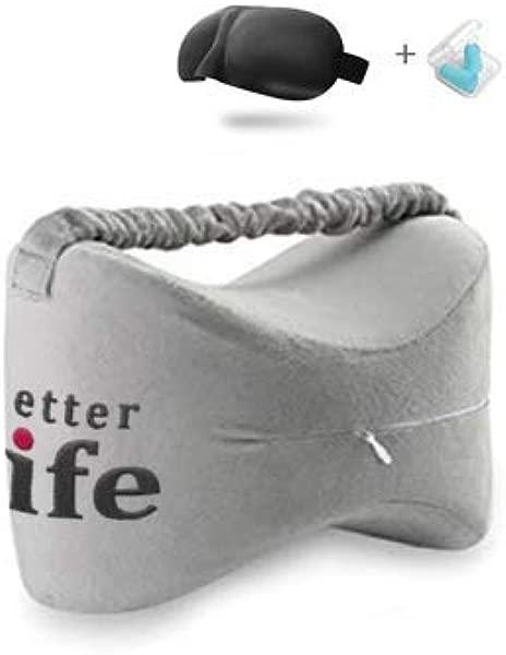 GMX R 优质膝枕的臀部背部腿部膝盖疼痛非常适合侧枕妊娠对脊柱排列舒适泡沫坡跟拆洗全新改良