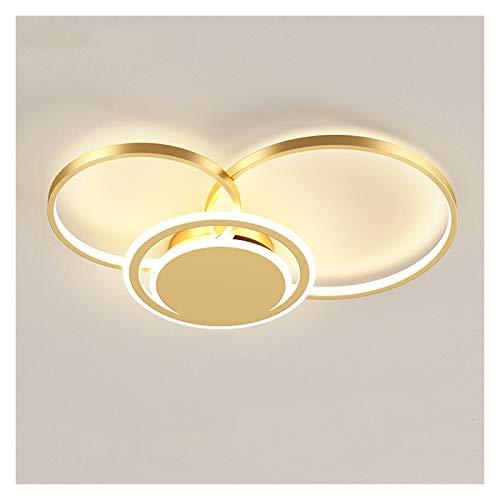 Iluminación de techo de interior Lámpara de techo Lámpara de acrílico creativo de tres anillos Lámpara de techo Lámpara de techo Iluminación Dormitorio Sala de estar Estudio de oficina Moderna Lámpara