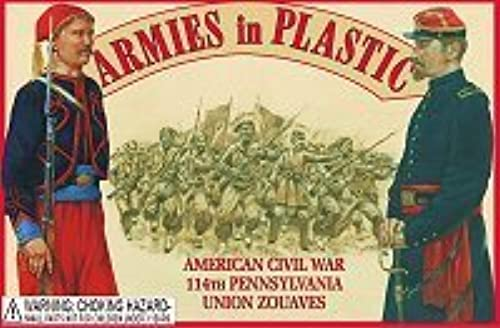 Armies in Plastic 1 32 American Civil War 114th Union Pennsylvania Zouaves (20) by Armies in Plastic