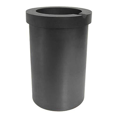 Harilla Gran Capacidad crisol de Grafito de Alta pureza Oro Plata Herramientas de fundición crisol de fundición - 8kg Negro
