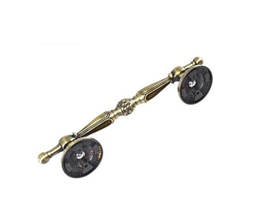 MLOZS Segura pasamanos de cobre antiguo/tirador de armario europeo sencillo/bronce verde rojo bronce de puerta/mango clásico (color: bronze) (color: b), antideslizante (color: b), talla pequeña