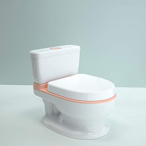 LK-HOME Toilette De Pot pour Les Enfants, Tout-Petit Potty WC - Jouet D'aide À La Formation De Pot Éducatif, avec Musique Et Son De Chasse d'eau,Rose