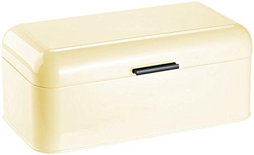 Rosenstein & Söhne Brot-Aufbewahrungsbox: Metall-Brotkasten im Retro-Stil, mandelfarben (Brot-Kiste)