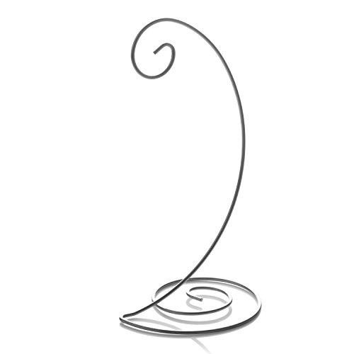 TRIPAR Spiral Bottom Ornament Stand, Silver