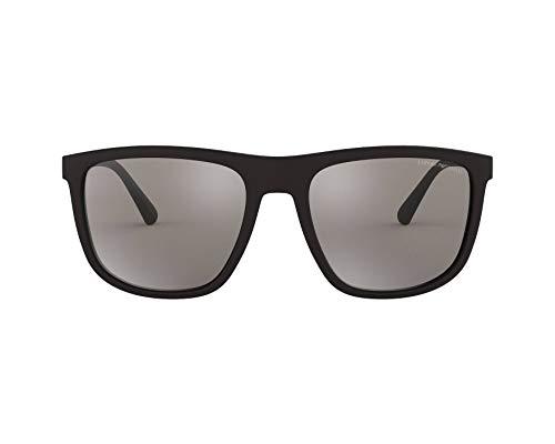 Emporio Armani Herren Sonnenbrille 0EA4124, Schwarz (Matte Black), 57