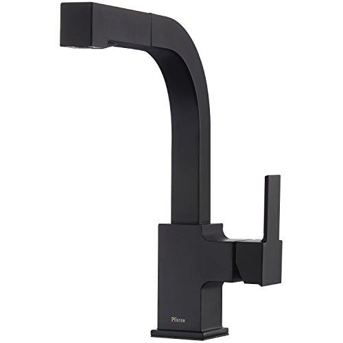 Pfister LG534-LPMB Arkitek Kitchen Faucet With Pull-Out Sprayhead, 1/2 Inches, Matte Black