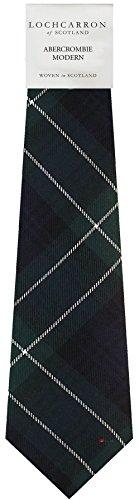 I Luv Ltd Gents Neck Tie Abercrombie Modern Tartan Lightweight Scottish Clan Tie