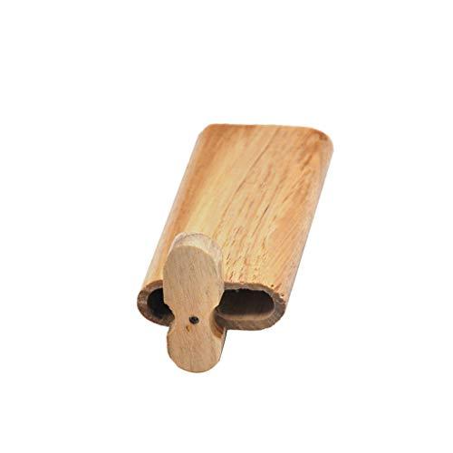 FiedFikt Zigarettenetui, manuelle Holzdeckel, Schiebedeckung, tragbar, ideal für Zigarettenanzünder