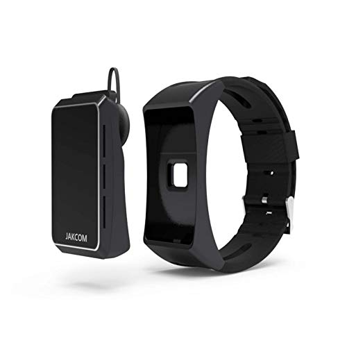 YLME Pulsera Llamada Inteligente, Jakcom B3 Cinturón Inteligente, Deportes Reloj Sueño Salud Frecuencia Cardíaca, Auriculares Bluetooth, Portátil, Compatible con iPhone Y Android,Negro