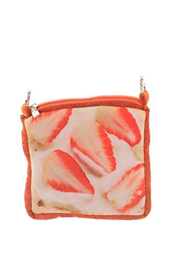 LB-102-1 Erdbeer Strawberry Toast Brot-Scheibe Sweet Pastel Goth Lolita Mini Stoff Umhänge-Tasche Harajuku Kawaii