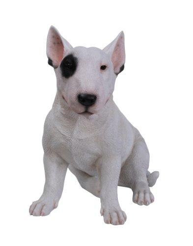 Vivid Arts Bull Terrier Hund, Kunstharz Gartendeko