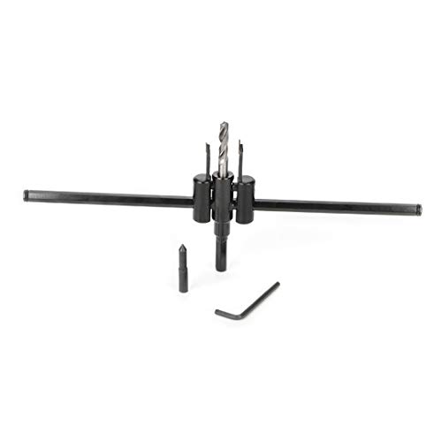 Dreneco Adjustable Hole Saw Alloy Steel Drill Bit, Adjustable Hole Cutter 30-300 mm
