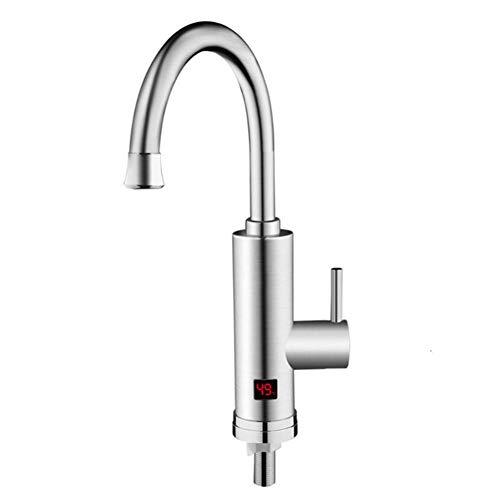 R&Xrenxia Stainless Tap, Durchlauferhitzer Wasserhahn mit Wasser-Heizung Küche Sofortiger Heizungshahn, Wasser mit Temperaturanzeige