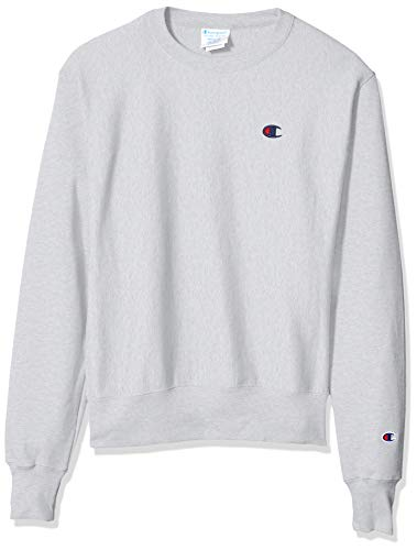 Champion LIFE Men's Reverse Weave Sweatshirt, Silver/Gray, Large