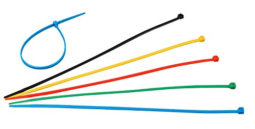 Kopp 324604092 Kabelbinder, 50 Stück, je 10 Stück, 300 x 4.8 mm, blau / rot / gelb / grün / schwarz