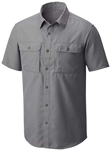 Mountain Hardwear Canyon Short Sleeve Shirt, Camicia Uomo, Manta Grey, M