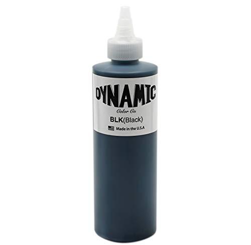 Tinta para tatuaje BLACK DYNAMIC, Mejores tintas de colores y negros VEGAN 8oz, negro