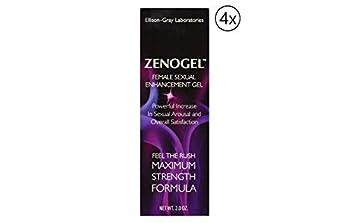 Zenogel Female Enhancement Formula 2.0oz Gel  4 Tube  Provide Deliciously Light and Velvety Lubrication