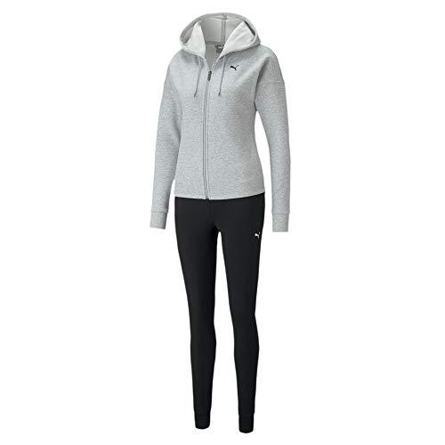 PUMA Damen Classic Hd. Sweat Suit FL cl Trainingsanzug, Light Gray Heather, L