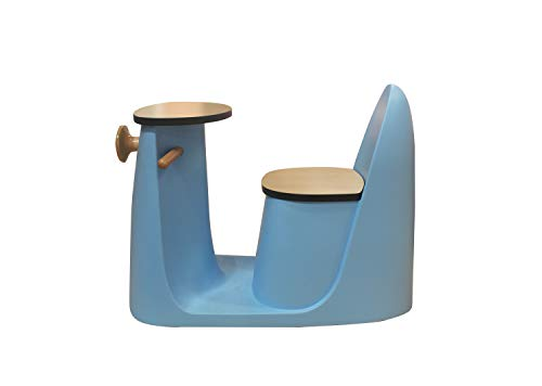 Meubletmoi stoel met tafel voor kinderen, kantoor, blauw, design scooter – Vespa