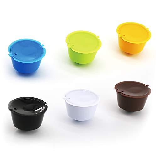 Cápsulas de Café, 6 piezas Cápsulas Reutilizables, con Cepillo y Cuchara