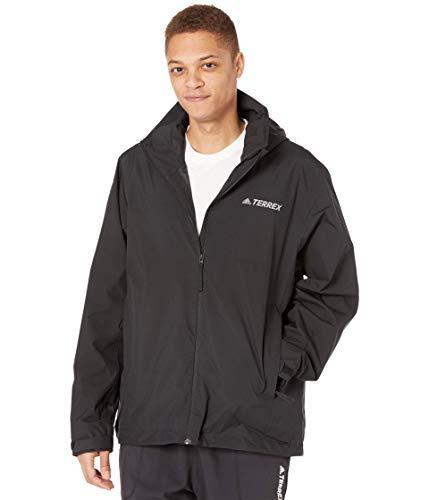 adidas mens Terrex Multi RAIN.RDY Two-Layer Rain Jacket Black Medium