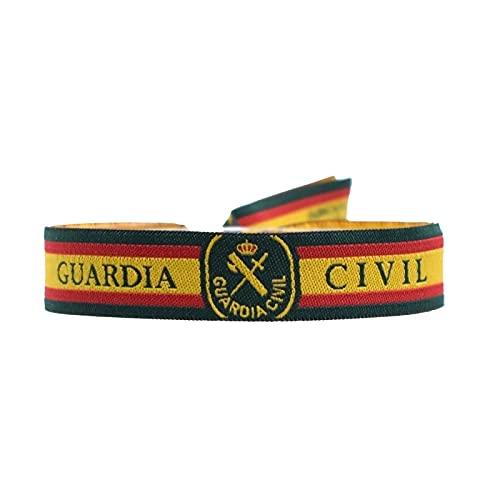 Set 3 Pulsera Tela Bordada Guardia Civil Bandera de España