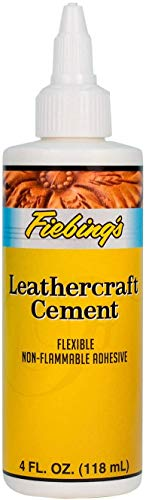 Fiebing's Leathercraft Cement, 4 oz - Quick Drying, High Strength Adhesive for Leather & More - Non-Toxic