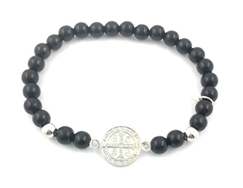 Pulsera San Benito Plata de Ley. Es una de Las medallas más Antiguas de la cristiandad, y quienes la portan creen Que Tiene Poder contra el Mal.