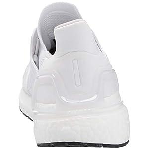 adidas Women's Ultraboost 20 Running Shoe, White/Grey/Black, 7 M US