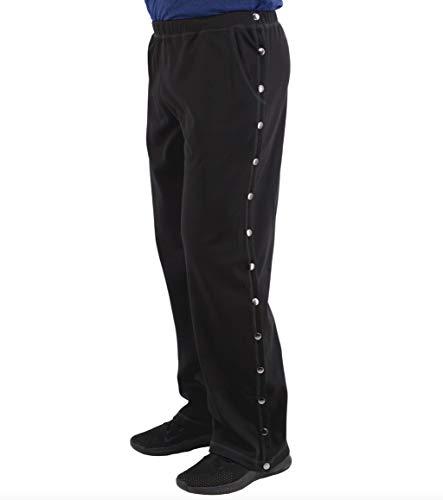 Post Surgery Tearaway Pants - Men's - Women's - Unisex Sizing (Black, Medium)