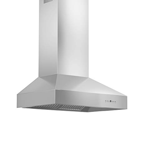 """ZLINE 30"""" Professional Convertible Vent Wall Mount Range Hood in Stainless Steel (667-30)"""
