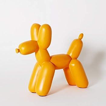 Balloon Dog Ceramic Bookend Decor and Modern Home Decor Sculpture  Orange