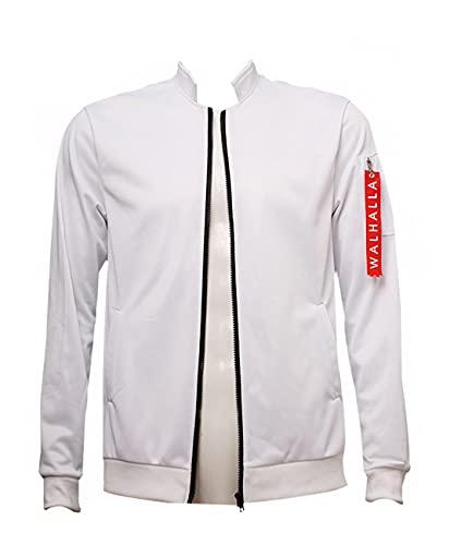 Piccodos Valhalla Uniforme de base-ball Veste Anime Tokyo Revengers Manteau Cosplay Costume Blanc Homme S (Chest 104cm)
