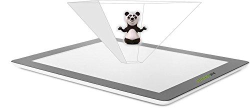 GREEN24 purital® 3D Tablet Hologramm Pyramide Projektor Folie - Laser Holographic (2er Set Tablet)