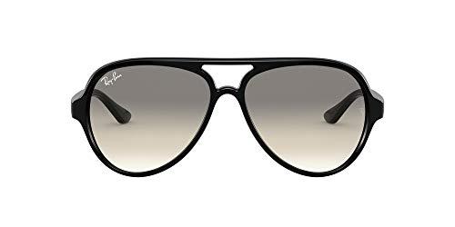 Ray-Ban Rayban Sonnenbrille RB412560132 Aviator Sonnenbrille 59, Schwarz