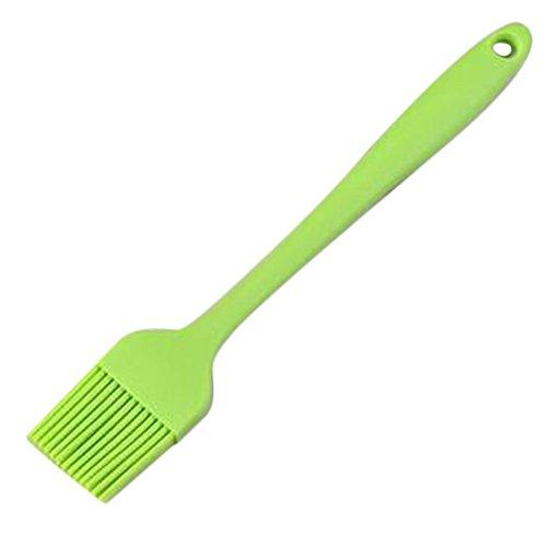 Namgiy, Pennello da Cucina in Silicone per Pasticceria e Barbecue, 21 cm, Colore Casuale 21 cm Verde