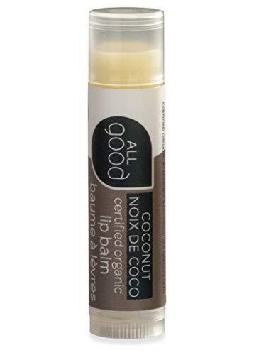 All Good Organic Lip Balm for Soft Smooth Lips - Calendula, Lavender, Olive Oil, Beeswax, Vitamin E (Coconut)