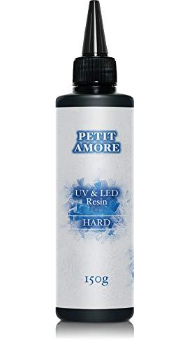 PETIT AMORE 純日本製 レジン液 UV-LED対応 大容量 150g ハードタイプ (150g)
