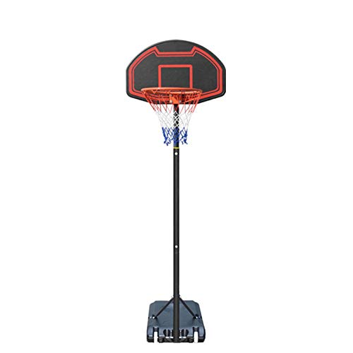 portátil Canasta Baloncesto, Juego de Baloncesto con Soporte y 2 Ruedas Soporte de Baloncesto Nylon Net Altura Ajustable para niños,Red