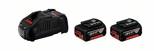Bosch Professional 18V System 2x GBA 18V 6,0 Ah Akkus + Ladegerät GAL 1880 CV, im Karton