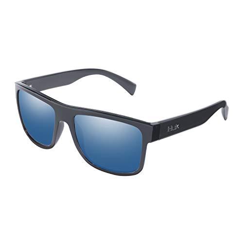HUK Men's Polarized Panto Sunglasse…